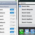 Cydia SLightEnhancerSearch: aggiungi nuove funzione alla ricerca di iOS
