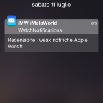 WatchNotifications, come ricevere le notifiche su iPhone in stile Apple Watch