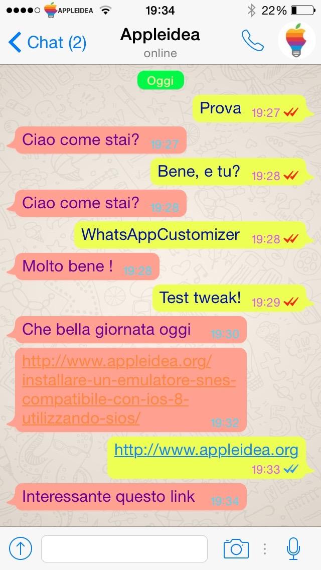 WhatsAppCustomizer, coloriamo i messaggi di WhatsApp secondo nostri gusti