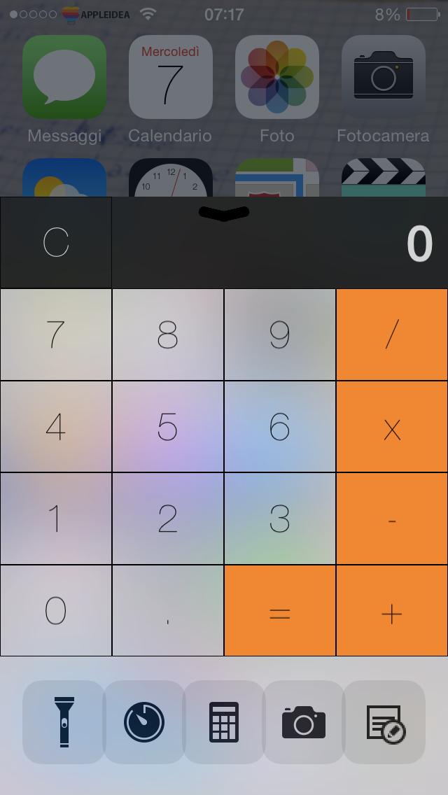 CCMore, come avere un rapido accesso alle app nel Centro di Controllo_ Calcolatrice