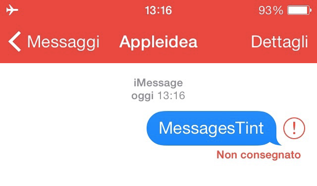 MessagesTint colorare l'applicazione Messaggi in base al servizio utilizzato
