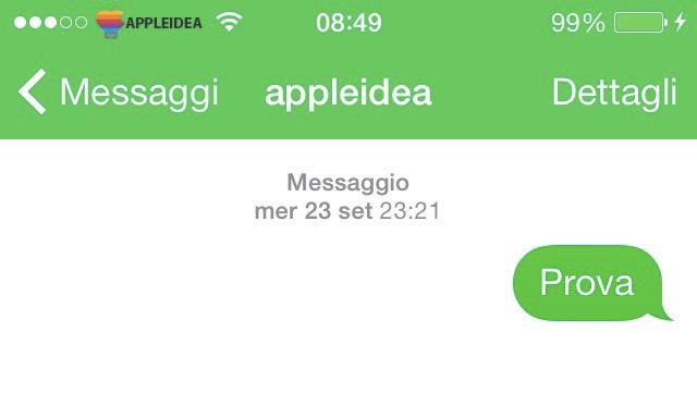 MessagesTint colorare l'applicazione Messaggi in base al servizio utilizzato_3