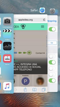 SwitcherTweak modificare la direzione del App Switcher di iOS 9 e altro ancora