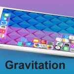 Gravitation, le icone delle app nella Home screen sono soggette alla gravitazione