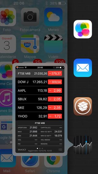 Anisette, un simpatico menu laterale che include il centro di controllo e l'app switcher di iOS_2