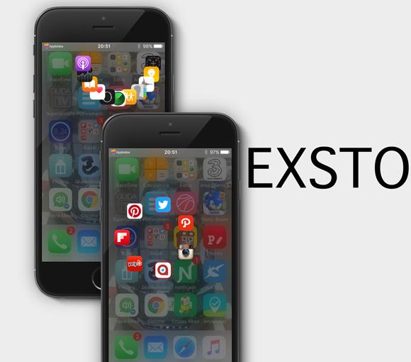 Exsto, attiva un launcher nelle cartelle di iOS per aprire rapidamente qualsiasi app