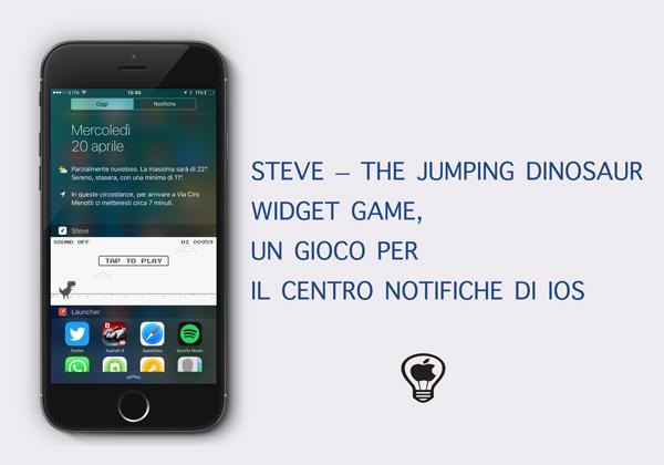 Steve---The-Jumping-Dinosaur-Widget-Game,--un-gioco-per-il-Centro-Notifiche-di-iOS