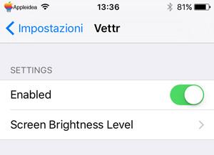 Vettr, visualizza l'orario e lo stato della ricarica quando iPhone è collegato ad una fonte di energia_2
