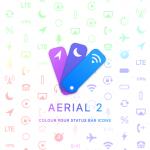 Aerial 2 personalizza il colore delle icone della barra di stato