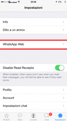 Whatsapp Web Enabler_impostazioni